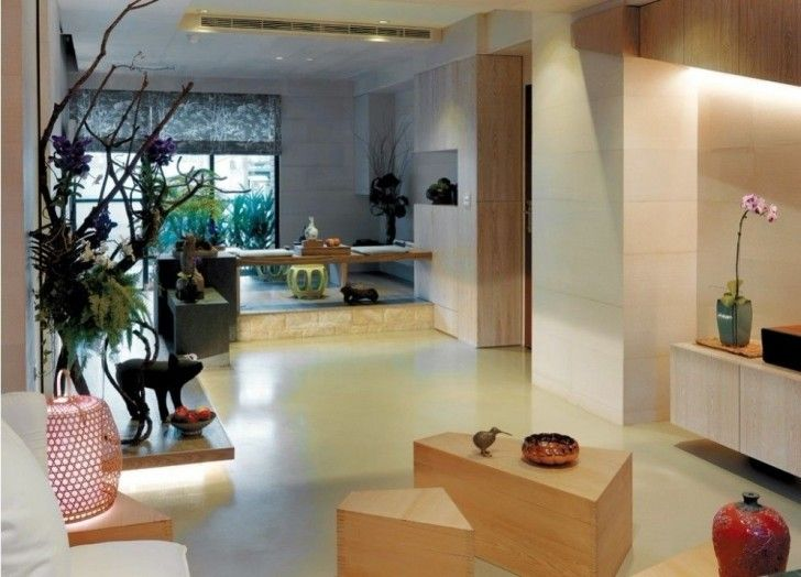Minimalist Apartment Design With Asian Modern Interior Cozy Decorating Ideas