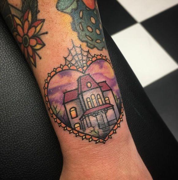 Tattoo by Mel Perlman Psycho / Bates Motel House
