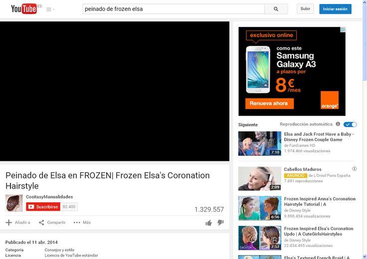 Peinado de Elsa en FROZEN| Frozen Elsa's Coronation Hairstyle - YouTube