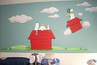 Snoopy mural