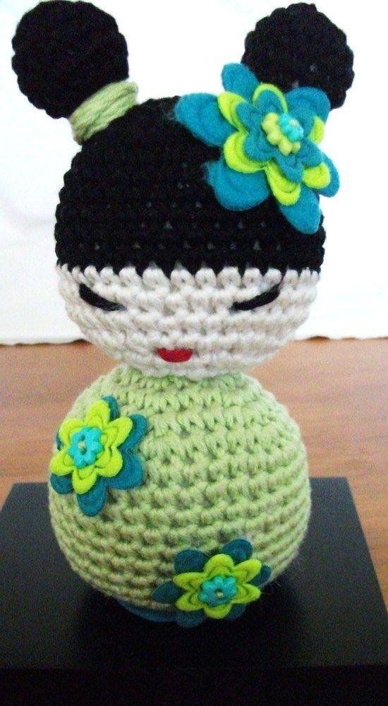 Crochet Pattern For Yoda Doll : Amigurumi Crochet Kokeshi Doll ?15.00 now available on ...