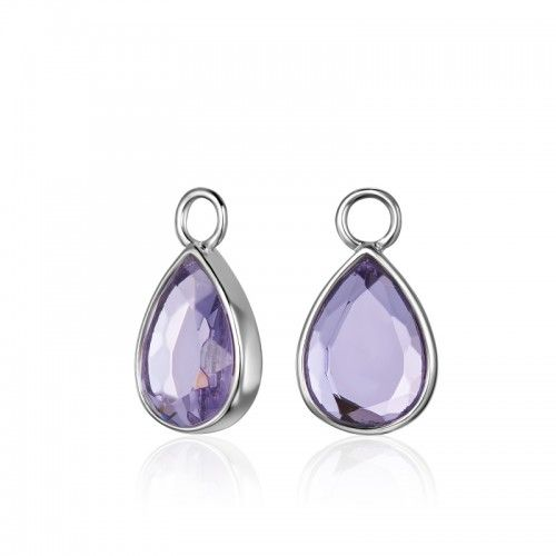 KAGI Violet Teardrop Ear Charms