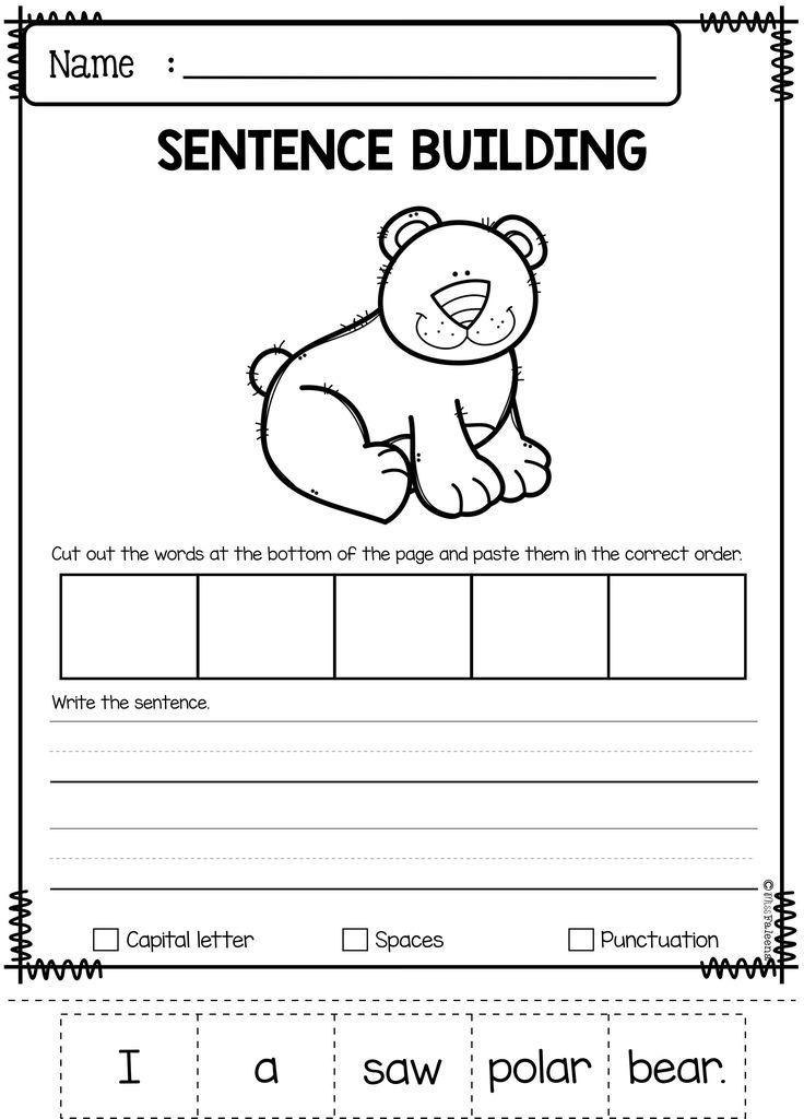 december sentence building all free lessons tpt sentence building first grade worksheets. Black Bedroom Furniture Sets. Home Design Ideas