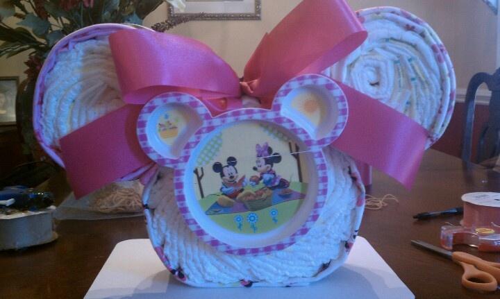 Minnie Mouse Diaper Cake - Like Kita's Kreations on Facebook