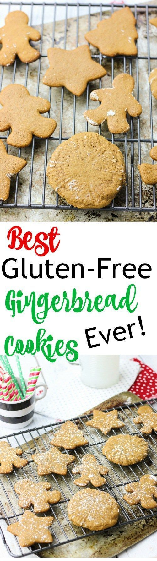 These are the best gluten-free gingerbread cookies you will find!  These gluten-free gingerbread cookies are soft, moist, and shapeable, can be easily prepped ahead of time, and are sweet and delicious, just like gingerbread cookies should be!  Say goodbye to crumbly, tasteless, cardboard gluten-free cookies just in time for Christmas! www.BlessHerHeartYall.com
