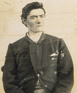 1873 Prison portrait of Ned Kelly at 19 years old (Ned Kelly Australia's most well-known and mythical bushranger)