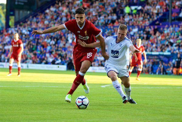 Birkenhead, Anglicko - Stredu 12.07.2017: Liverpool Marko jangresner v akcii proti Tranmere Rovers v priebehu preseason priateľský zápas v Prenton parku.  (Pic David Rawcliffe / Propaganda)