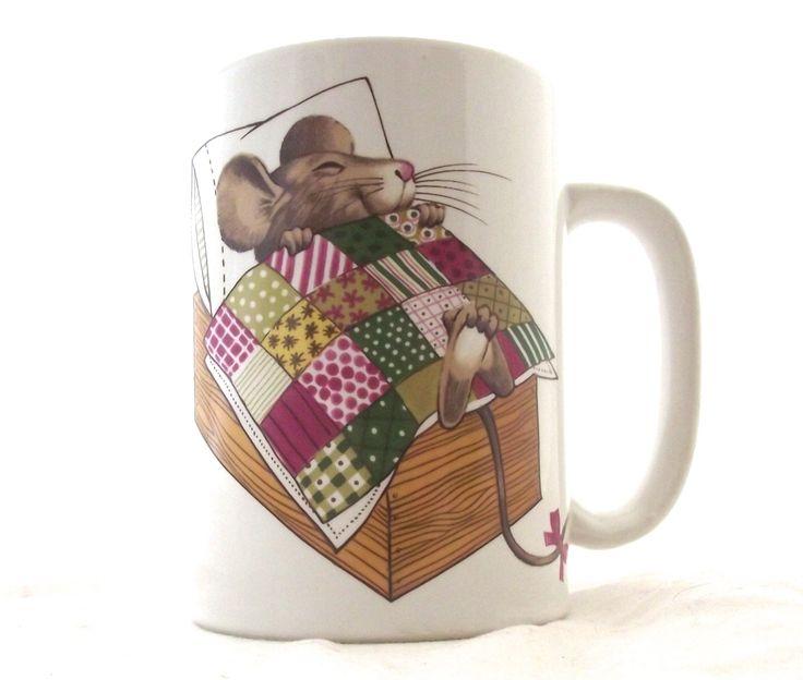 Sleeping Mouse Otagiri Mug, Vintage Coffee Cup (F3) by planetalissa on Etsy