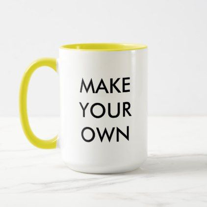 Make Your Own Custom Personalized Combo Mug  $18.95  by MakeYourOwnMug  - cyo diy customize personalize unique