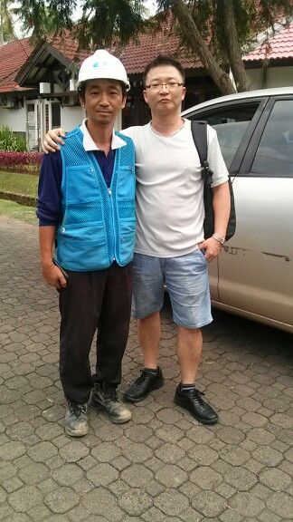Trip to Indonesia:  With my old buddy @ Cilegon. He works harder than ever~ Proud of you!