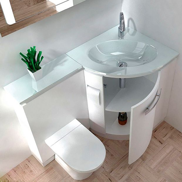 Corner Sink And Toilet Unit : ... Sink Bathroom on Pinterest Bathroom corner basins, Corner sink unit