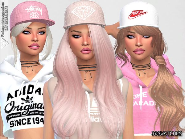 Diamond Urban Cap Collection by Pinkzombiecupcakes at TSR • Sims 4 Updates