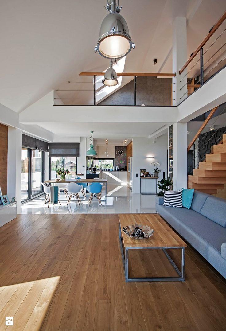 DOSKONAŁY 3 - realizacja projektu - Salon, styl nowoczesny - zdjęcie od DOMY Z WIZJĄ - nowoczesne projekty domów