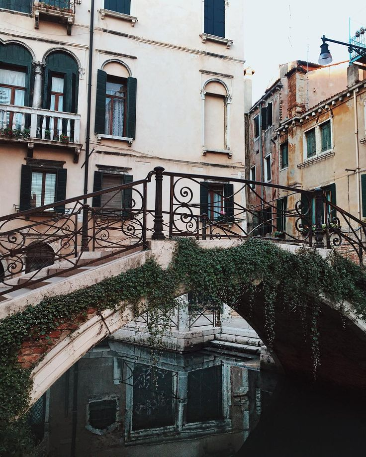 "stylishblogger: "" So many pretty bridges and canals in Venice. by @songofstyle """
