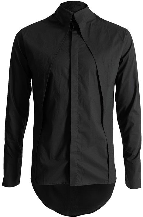 Visions of the Future: MINOAR | Infinity collar shirt | Black. Beautiful simplicity.