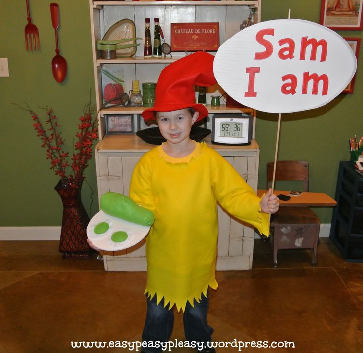 "DIY Dr. Seuss ""Sam I Am"" Costume from Easy Peasy Pleasy"