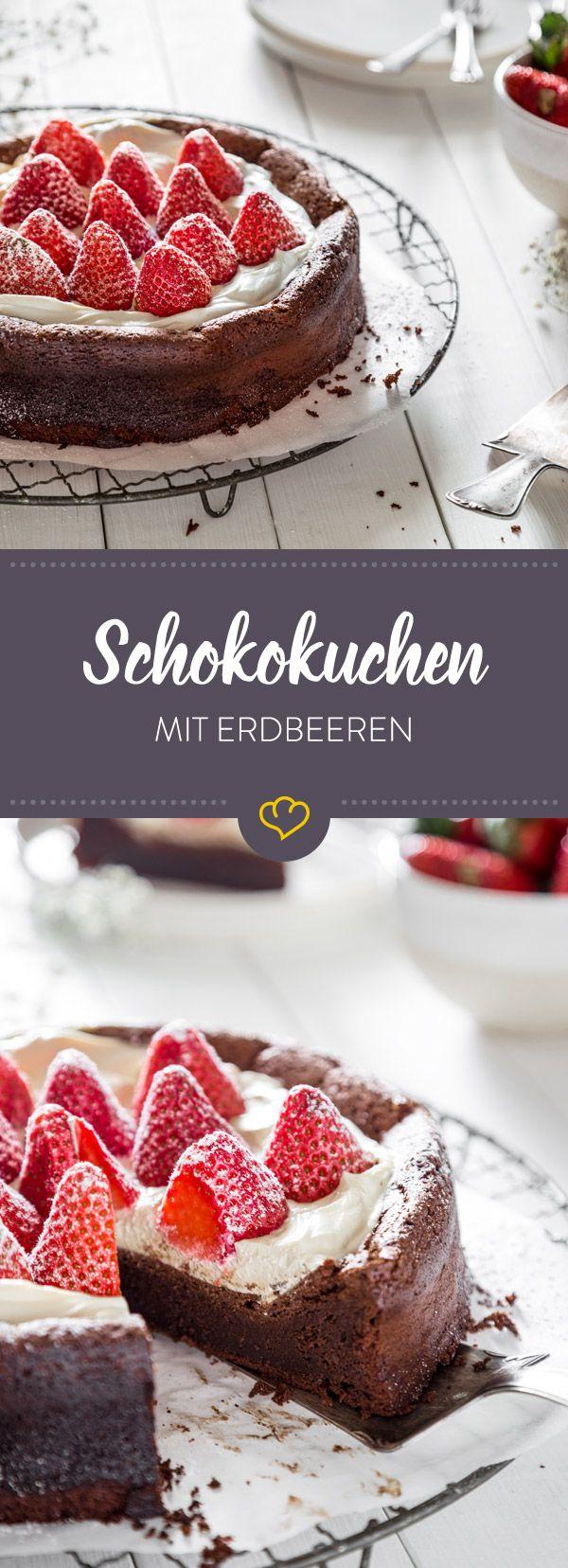 Ein Kuchen ohne Mehl, der herrlich fluffig und schokoladig schmeckt! Dieser Schokokuchen wird durch Eier unglaublich locker und luftig.