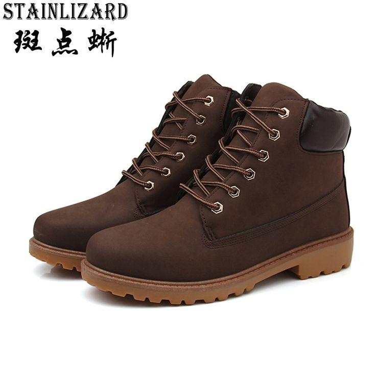 Nouveau mode bottes hiver chaud de Summer Cool chaussures hommes en cuir Flats chaussures basses hommes Casual de chaussures pour ch 6rW6sk7j