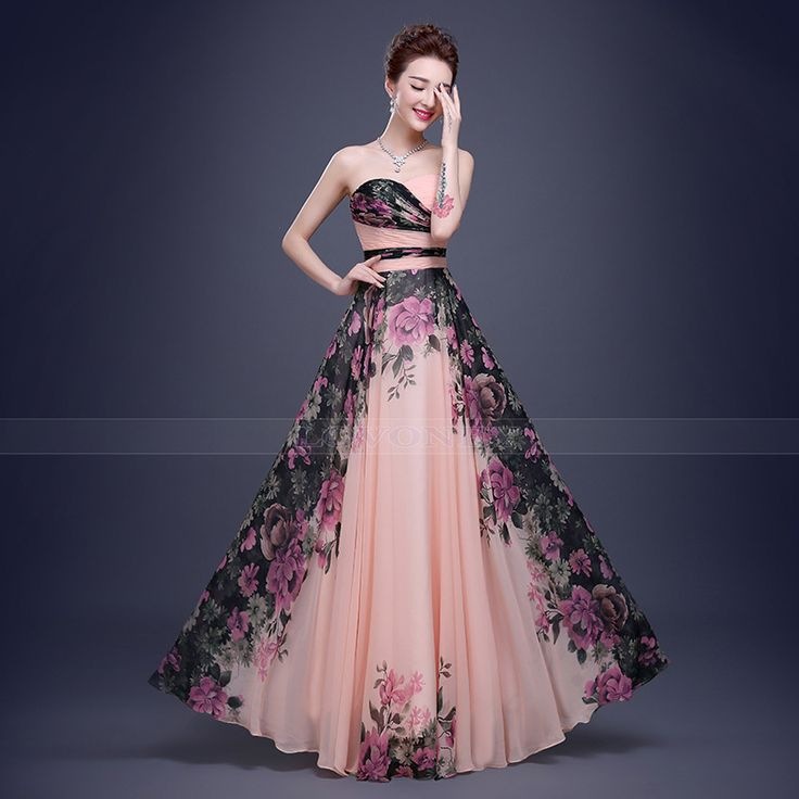 Real Photos 2015 Hot Sale Elegant Floor-Length Chiffon Long Evening Dress Gown Formal Dresses Robe De Soiree W101-A