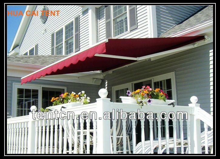 Aluminum Awning Balcony Design Sunshade 1.Aluminum Folding Arms 2.Manual Or  Motorized Operation