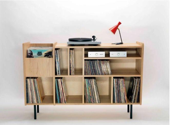 Nationale7 Meuble Hifi Vinyles Platenkast Woonruimtes Vinylplaat Opslag
