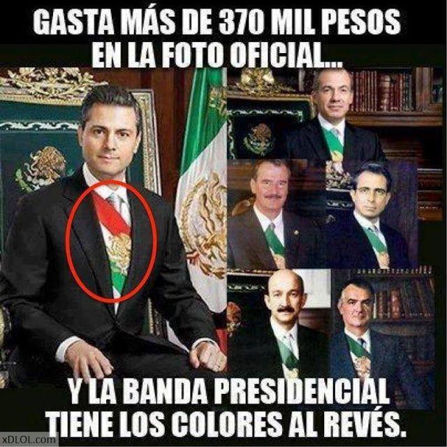 CLARO EMPIEZA CON ROJO POR TODA LA MASACRE QUE LLEVA Y QUE HA TEÑIDO DE SANGRE EL TERRITORIO NACIONAL. .. ASESINO !!!!! Banda presidencial de peña nieto...AL REVES