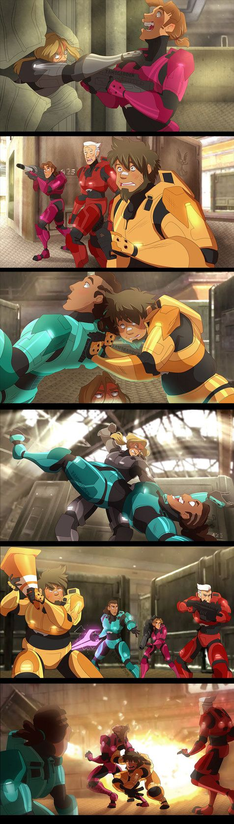 Red VS Blue - Screenshots redraws 1 by YAMsgarden.deviantart.com on @DeviantArt