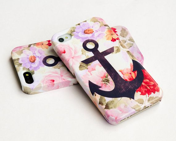 iphone 5  Anchor on vintage floral iphone case by IsolateCase, $24.50