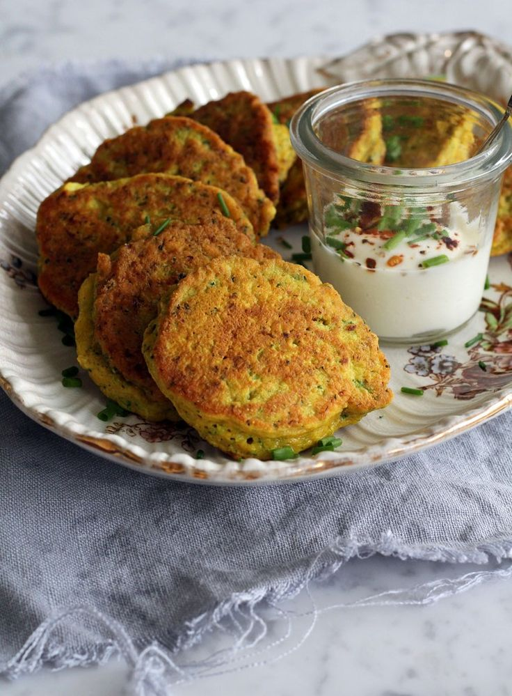 Spiced Broccoli, Turmeric and Goat's Cheese Fritters