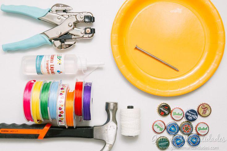 Pandereta DIY con materiales reciclados - Guía de MANUALIDADES