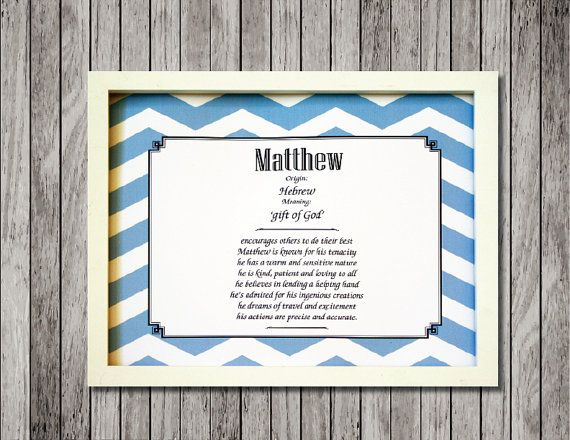 11 best gift art images on pinterest handmade design name baby name meaning nursery print with character traits ready to frame custom made for either boy or girl great baby shower gift negle Gallery