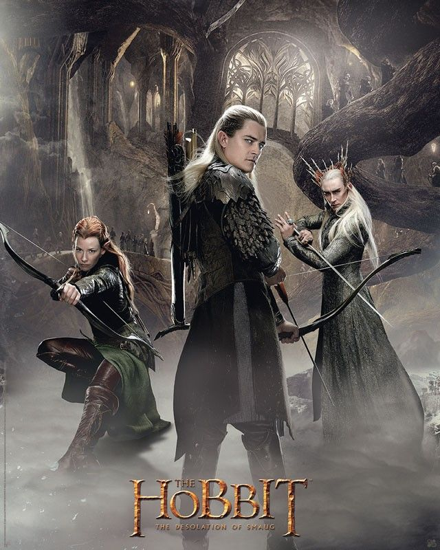 Poster affiche The Hobbit Elfes de Mirkwood