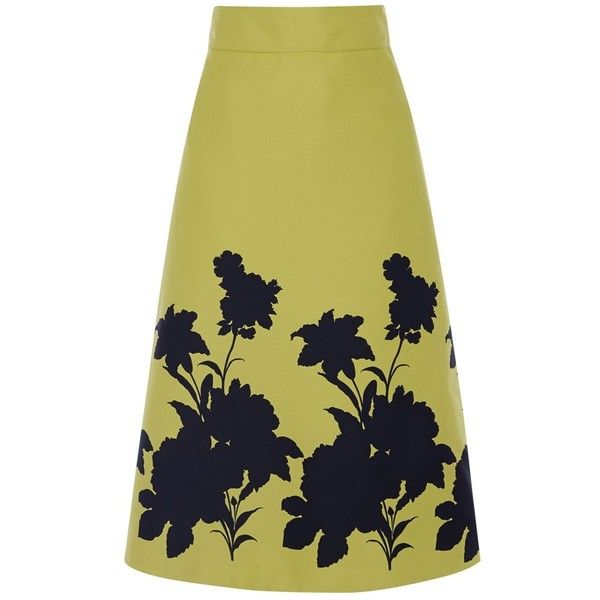 Coast Edie Boarder Skirt, Lime ($99) ❤ liked on Polyvore featuring skirts, a line skirt, lime skirt, midi skirt, textured skirt and mid calf skirts