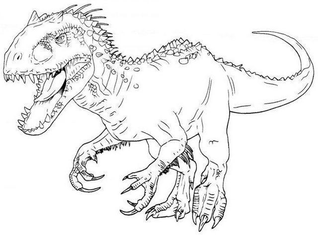 indominus rex para colorear  libro de dinosaurios para