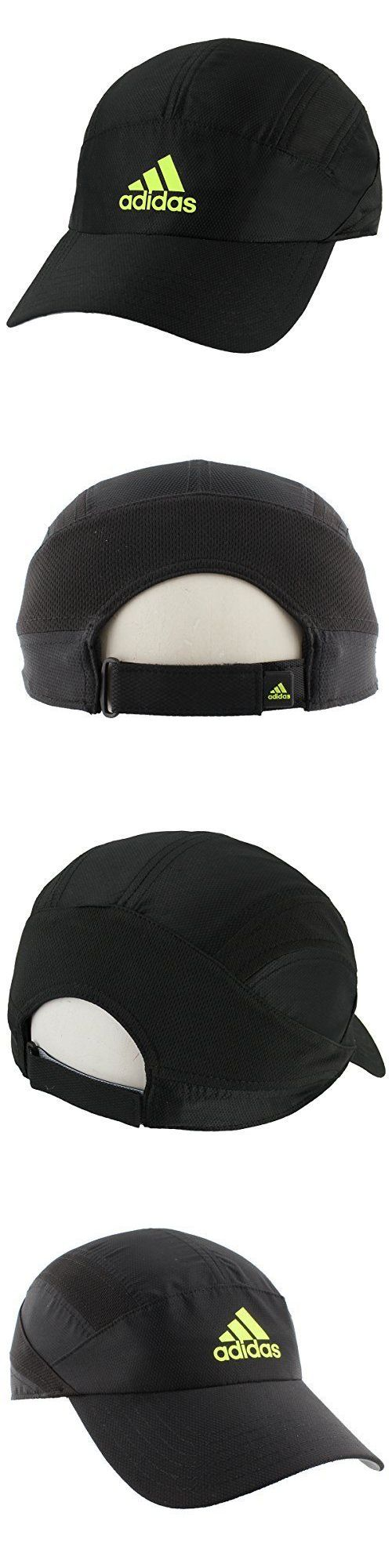 Hats and Headwear 159057: Adidas Mens Circuit Trainer Running Cap Black Solar Yellow One Size, New -> BUY IT NOW ONLY: $126 on eBay!