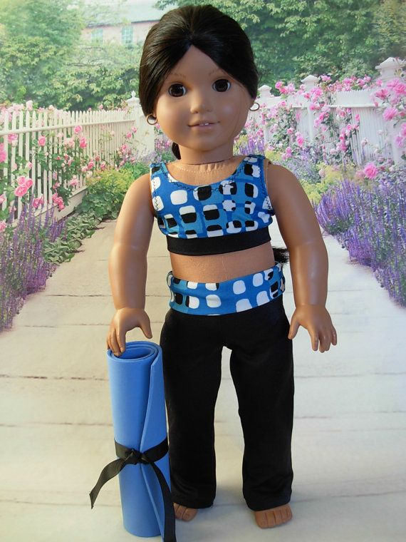 Let's Do Yoga fits American Girl Doll and 18 by WeeWhimzyWardrobe