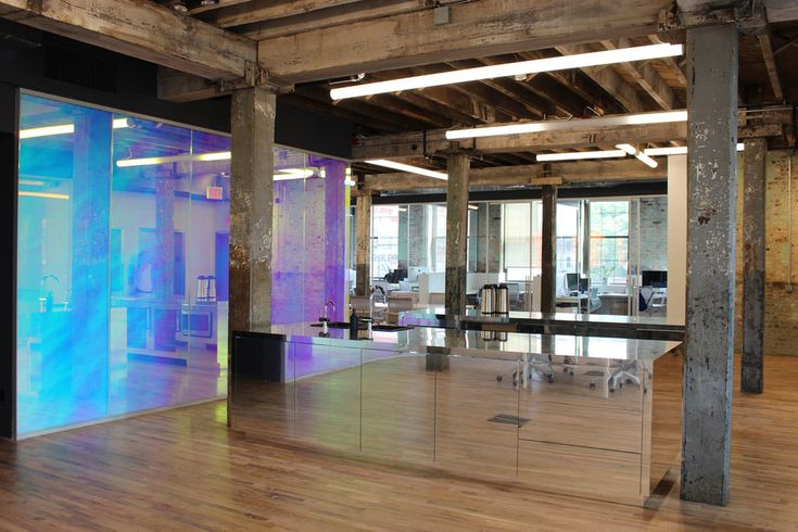 Genius Office Gowanus Dichroic Glass Leeser Architecture Brooklyn