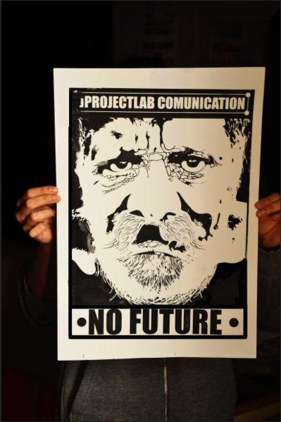 • new print : archive   #nofuture #future #grpahicdesign #jprojectlab #man #stencil #poster #black #print #comunication #massmedia #media