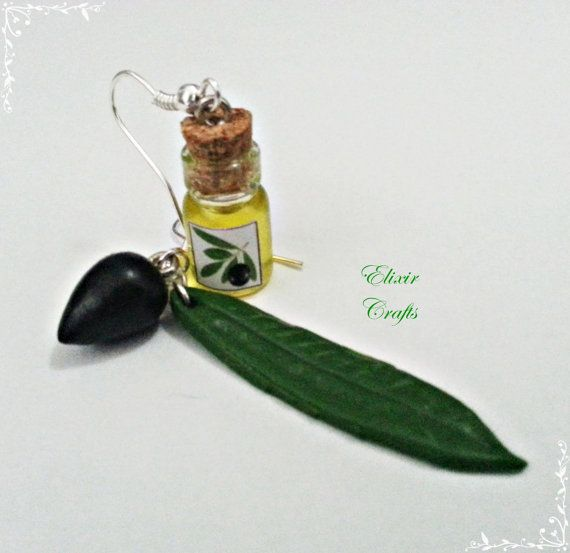 Olive leaf and olive fruit carved in hand without molds.    Bottle contains true Greek olive oil.    Bottle sealed with Cork with strong glue.