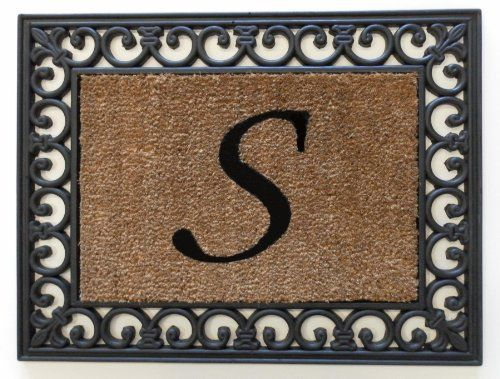 """19""""x25"""" Monogrammed Insert Doormat LETTER """"S"""" ONLY by Momentum Mats. $16.99. Makes a Great Gift - Free Gift Enclosure. Hoses clean. Resists fading, mold and mildew. Reassuring, non-slip rubber that won't crack or buckle. In Stock-Ships in 1-2 days. Momentum Mats has been a trusted manufacturer for 29 years and takes great pride in the fact that we use only 100% natural rubber in our doormats.  Additionally, our manufacturing facilities have the most advanced and cost effective..."""