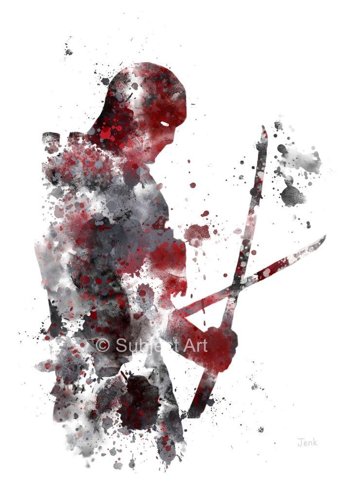Deadpool ART PRINT illustration, Superhero, Home Decor, Wall Art, Marvel by SubjectArt on Etsy https://www.etsy.com/listing/211283539/deadpool-art-print-illustration