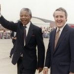 Nelson Mandela with Canadian Prime Minister, Brian Mulroney