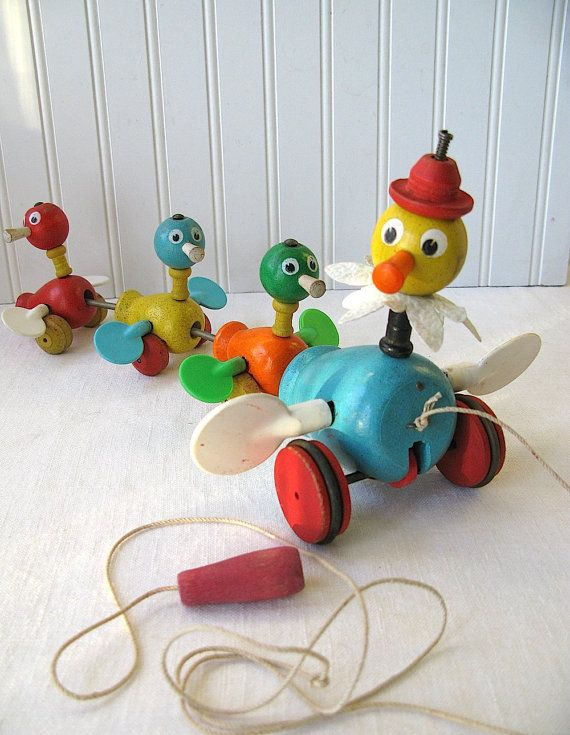 Vintage Fisher Price Pull Toy as artwork #roomandboard #yolocolorhouse  #annies