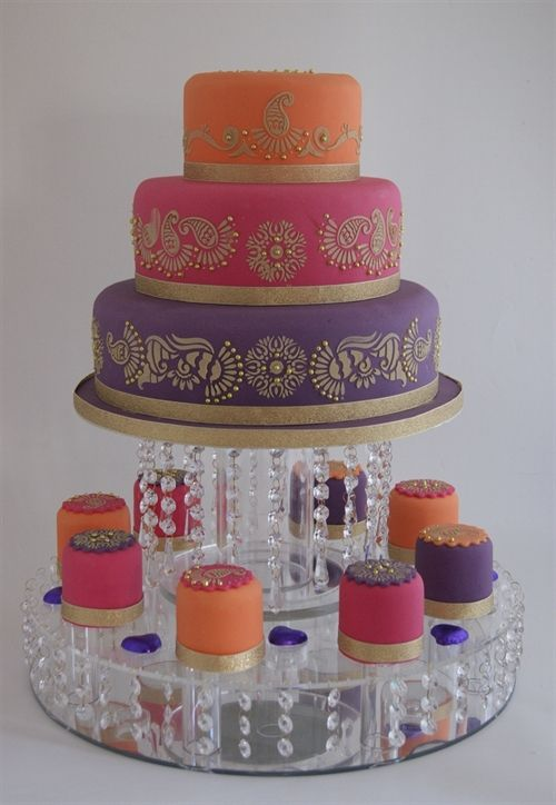Indian Weddings Inspirations. Henna Wedding Cake. Repinned by #indianweddingsmag indianweddingsmag.com #weddingcake