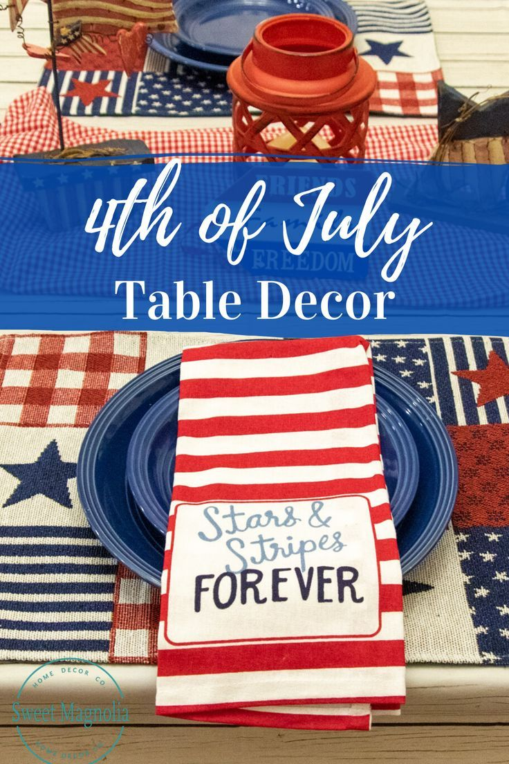 4th Of July Placemats Set Of 6 Or Set Of 4 Fabric Placemat God Etsy Fourth Of July Decor Farmhouse Placemats Magnolia Decor