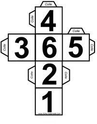 Dés à jouer avec les chiffres à fabriquer