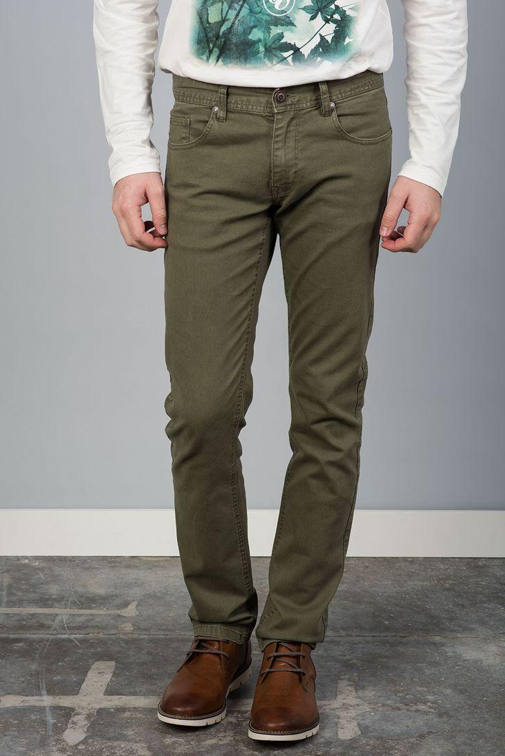 Tienda online   Moda mujer y hombre Pantalón denim en color verde oliva de Sixvalves Tienda online   Moda mujer y hombre