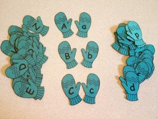 Warm up to learning the upper and lower case alphabet with this fun mitten match!