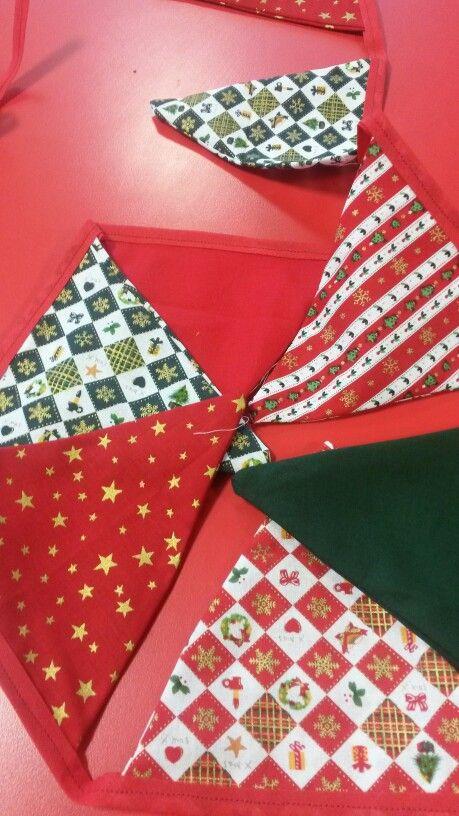 Traditional Christmas bunting