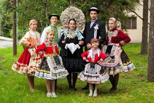 Folk costume of Slovaks from Serbian village Kisač (svk. Kysáč), Vojvodina province, Northern Serbia.